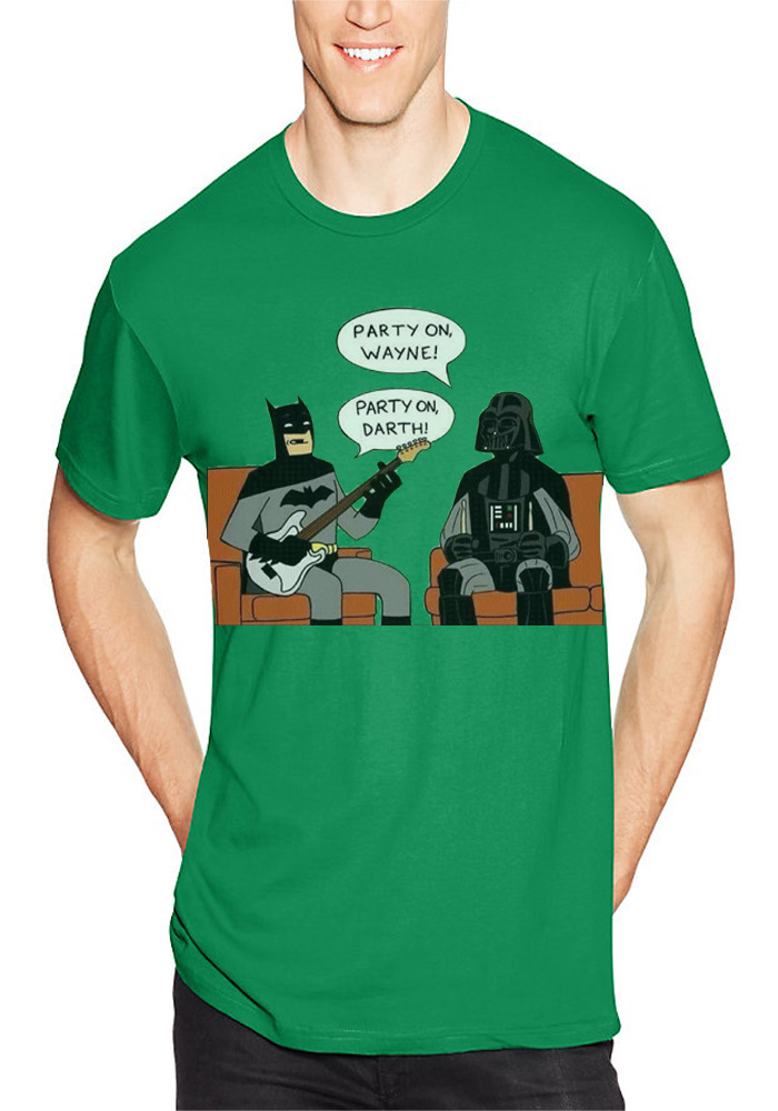 Party On Wayne Party On Darth Green T-Shirt