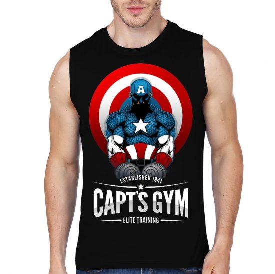 cap gym black vest