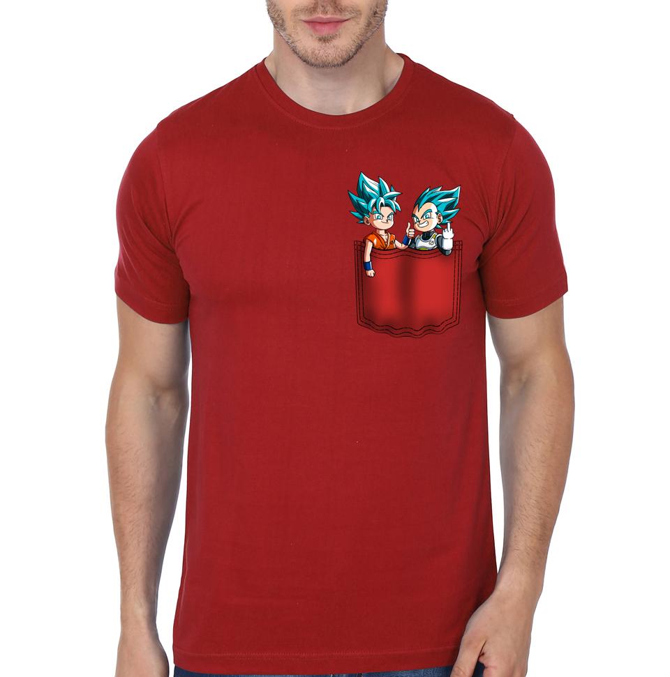 dragon ball z pocket red t shirt swag shirts. Black Bedroom Furniture Sets. Home Design Ideas