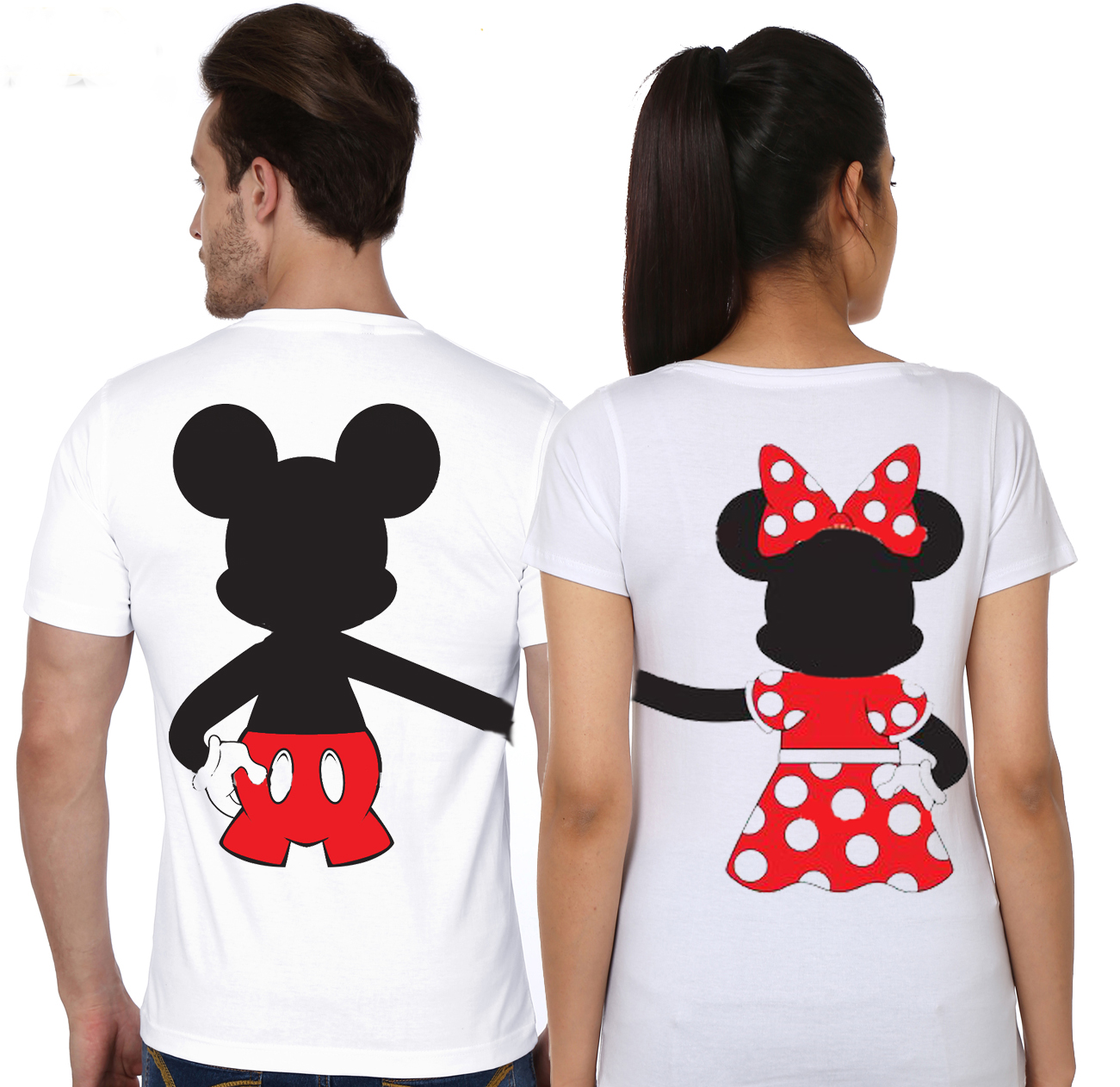Design t shirt for couple - Couple T Shirt Design White Mickey And Minnie Disney Soul Mate Holding Hands Couple White