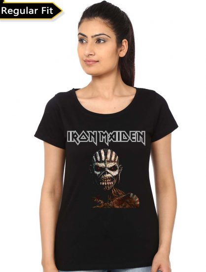 iron maiden black girls t-shirt