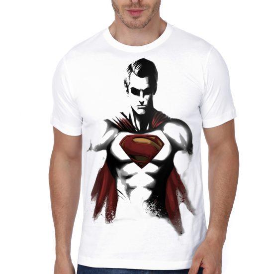 superman white tshirt