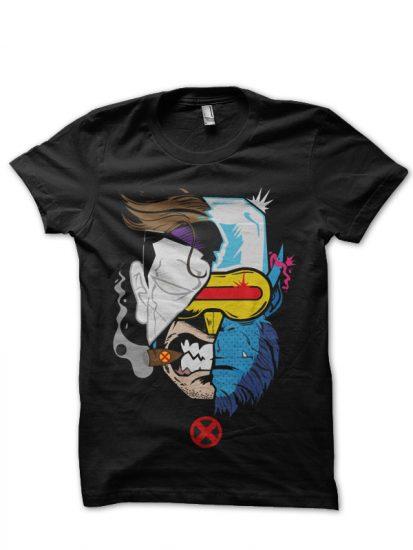 x men black tshirt