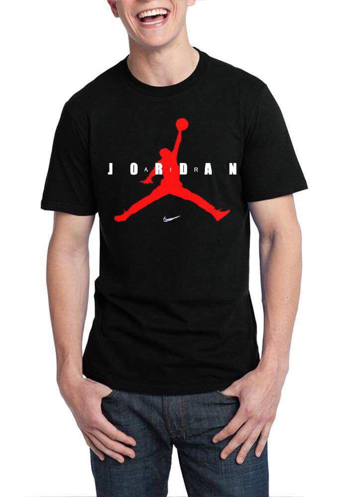 e309e41d8fa8 Home   Half Sleeve Round Neck T-Shirts   Michael Jordan Air Black T-Shirt