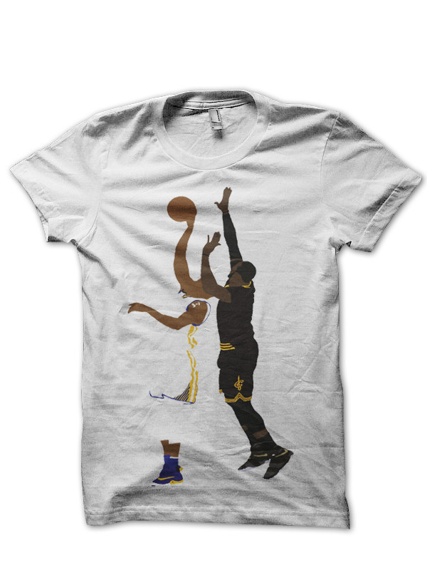 new product 5414e ef971 LeBron James Block On Iguodala White T-Shirt