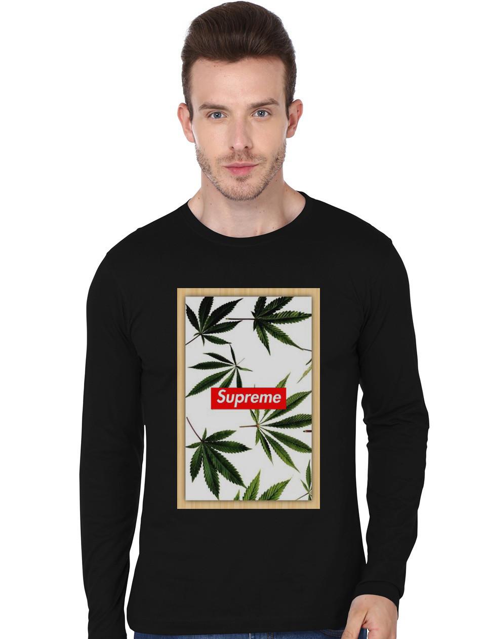 Black t shirt supreme - Supreme Black Full Sleeve T Shirt