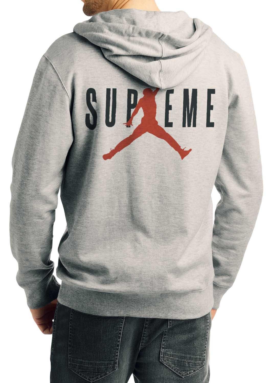 0544d39b3c1 Home   Hoodies   Sweatshirts   Supreme Jordan Air Grey Hoodie
