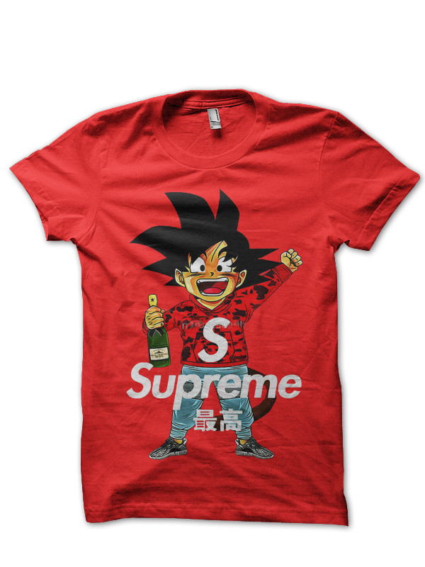 Supreme Dbz Goku Red T Shirt
