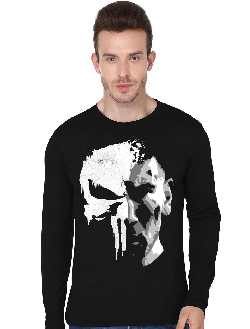 793e1109 The Punisher Skull Full Sleeve T-Shirt   Swag Shirts