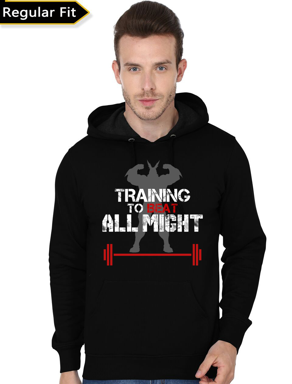 be5535d1ff01e Home   Hoodies   Sweatshirts   TRAINING TO BEAT ALL MIGHT Black Hoodie