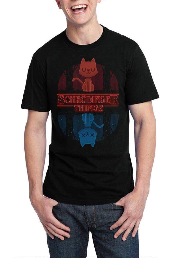 e1ee64c03 Schrodinger Things Black T-Shirt | Swag Shirts