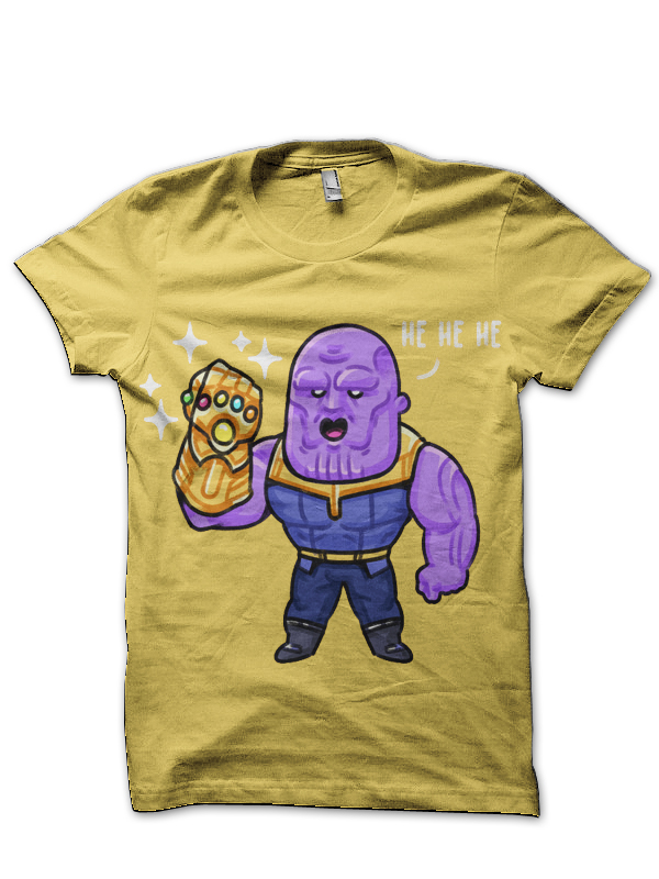 100% top quality search for genuine latest trends Thanos Yellow T-Shirt