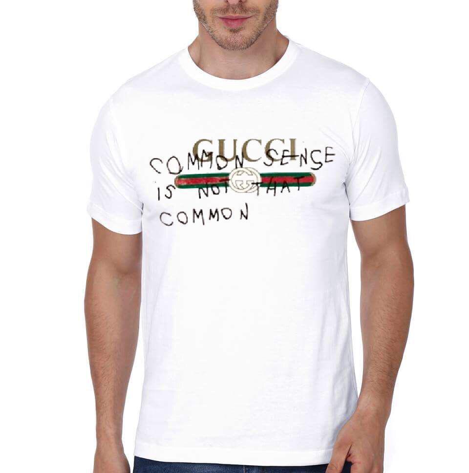 5fc7db6ea Gucci Common Sense White T-Shirt | Swag Shirts