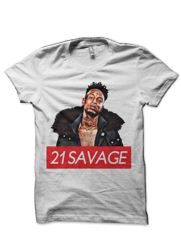 21 Savage White T Shirt Swag Shirts