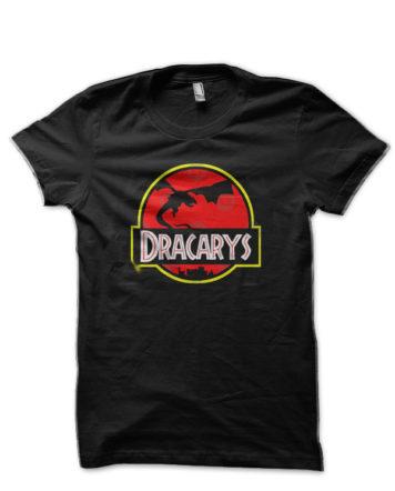 dracarys jurrasic park black tshirt