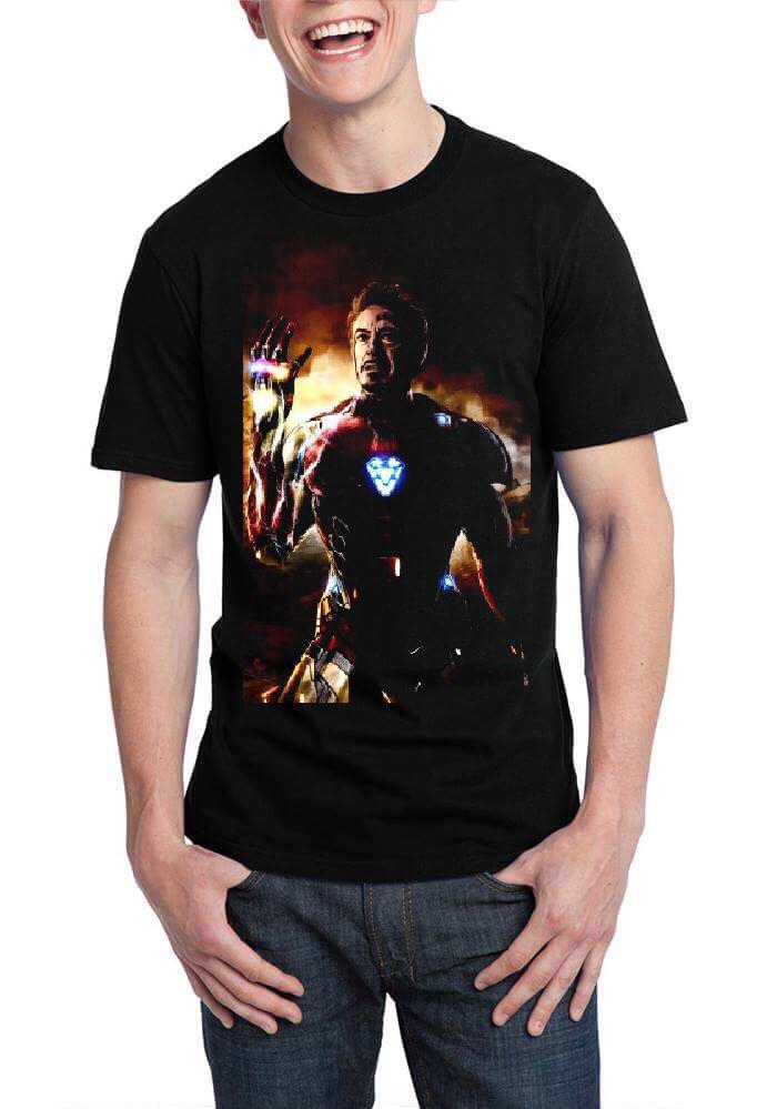 347146a9 Iron Man Black Half Sleeve T-Shirt | Swag Shirts