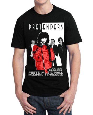 the pretenders black tshirt