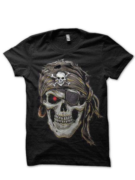 biker pirate black tshirt