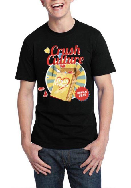 crush culture black tshirt