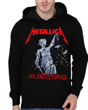 metallica justice for all black hoodie