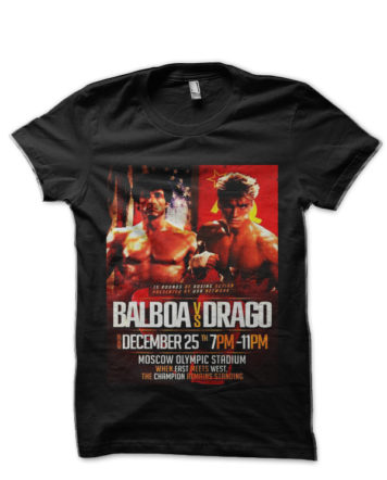 balboa vs drago black tshirt