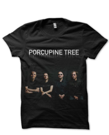 porcupine tree black tshirt