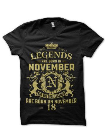 18 November black tshirt