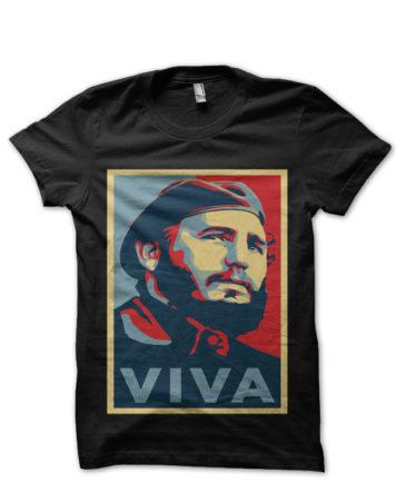 Fidel Castro Viva Black T-Shirt