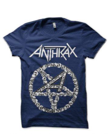 Anthrax Navy Blue T-Shirt