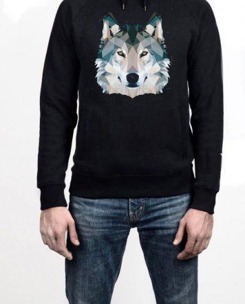 Arctic Fox Black Hoodie