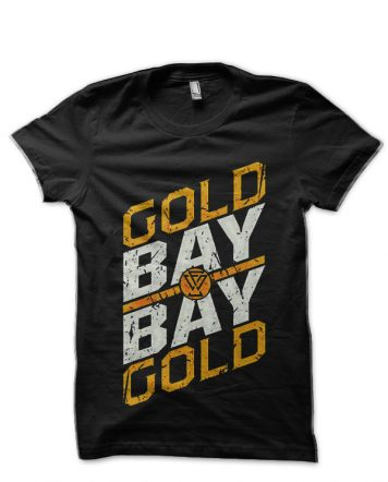 Gold Bay Bay Gold Adam Cole Black T-Shirt