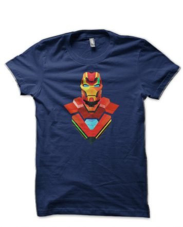 Iron man Navy Blue T-Shirt
