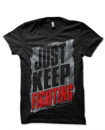 Just Keep Fighting Kevin Owens Black T-Shirt