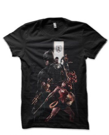 Justice League Black T-Shirt