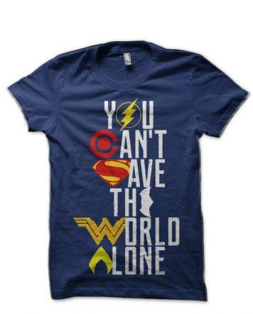 Justice League Navy Blue T-Shirt