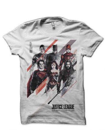 Justice League White T-Shirt