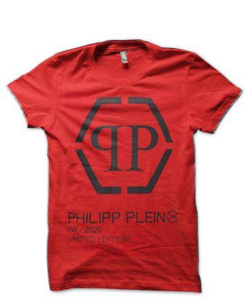 Philipp Plein Red T-Shirt