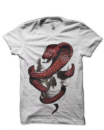 Philipp Plein Snake And Skull White T-Shirt