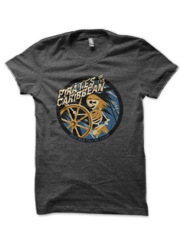 Pirates Of The Caribbean Charcoal Grey T-Shirt