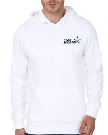 Star Sports Crew White Hoodie