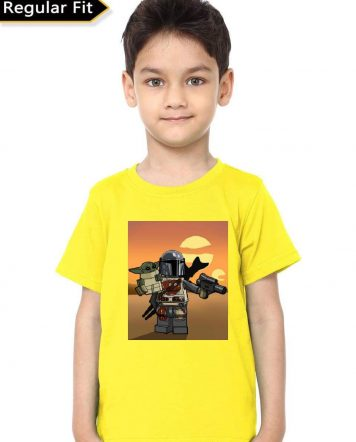 The Mandalorian Yellow Kids T-Shirt