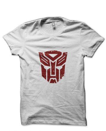 Transformers Autobots White T-Shirt