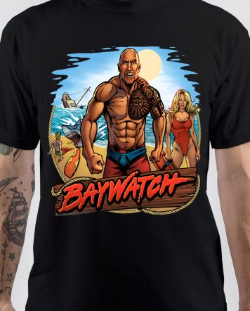 Baywatch The Rock T-Shirt
