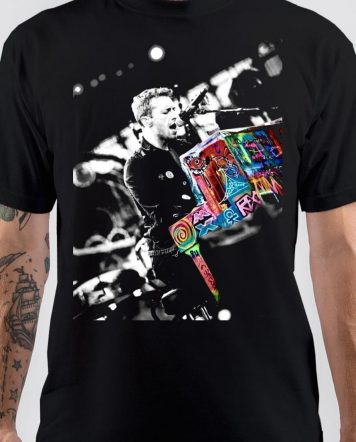 Chris Martin Black T-Shirt