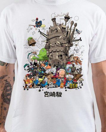Hayao Miyazaki Vintage Poster Classic Art T-Shirt