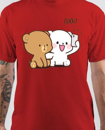 Milk Mocha Bear Selfie T-Shirt