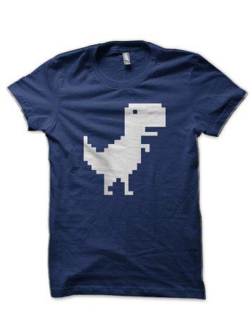 Offline T Rex Navy Blue T-Shirt