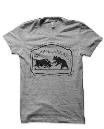 Share Market Bull Vs Bear Grey T-Shirt