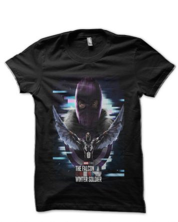 The Falcon And The Winter Soldier Black T-Shirt