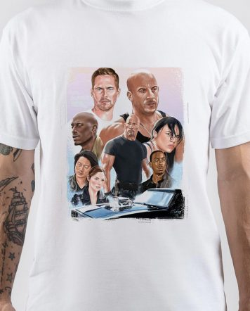 Fast & Furious Art White T-Shirt